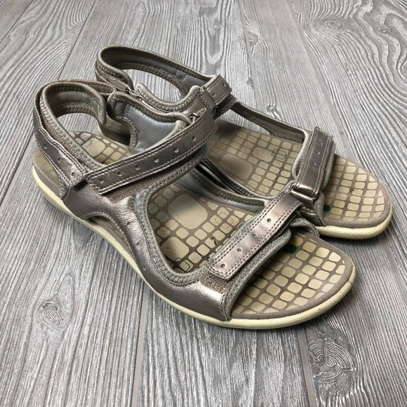 another chance exclusive deals amazing price Ecco Metallic Hiking Walking Sandals Womens 40 S35